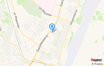 Местоположение на карте пункта техосмотра по адресу г Сыктывкар, ш Сысольское, стр 29