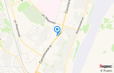 Местоположение на карте пункта техосмотра по адресу г Сыктывкар, ш Сысольское