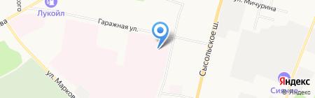 Вектор на карте Сыктывкара