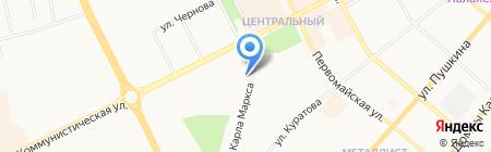 Аркадия на карте Сыктывкара