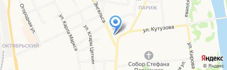 Графика на карте Сыктывкара