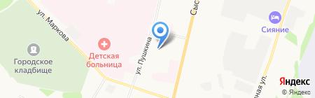 Детский сад №7 на карте Сыктывкара