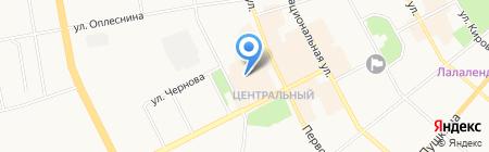Atlet-Torg на карте Сыктывкара