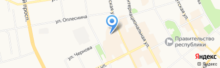 Милена на карте Сыктывкара