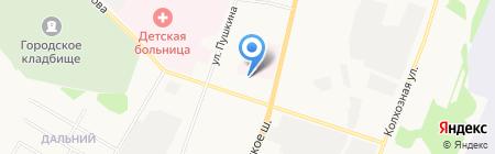 Авточас на карте Сыктывкара