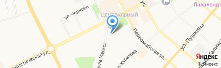 Атлант на карте Сыктывкара