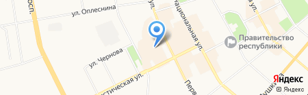 Интерфейс на карте Сыктывкара