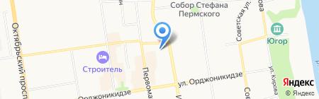 Аварийная газовая служба на карте Сыктывкара
