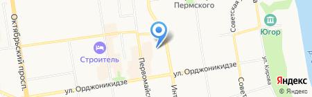 Галатея на карте Сыктывкара