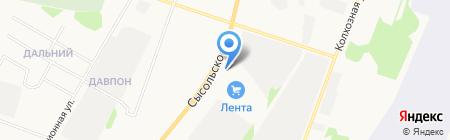 Автокинотеатр на карте Сыктывкара