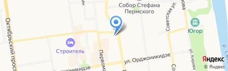 Мокко на карте Сыктывкара