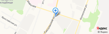 СВ на карте Сыктывкара