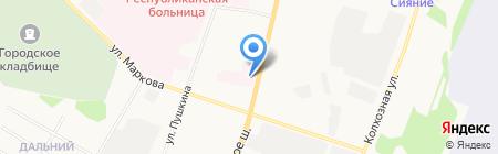 Коми республиканская психиатрическая больница на карте Сыктывкара