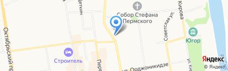 Нефтедорстрой на карте Сыктывкара