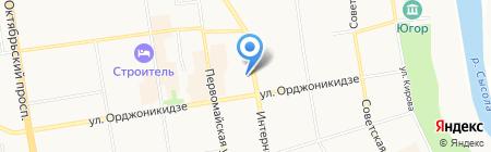 Женская консультация на карте Сыктывкара