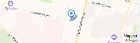 Центр хозяйственного и сервисного обеспечения МВД по Республике Коми на карте Сыктывкара