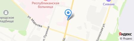 Коми республиканский наркологический диспансер на карте Сыктывкара