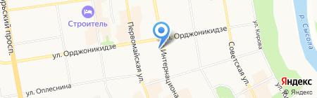 Столовая на Интернациональной на карте Сыктывкара