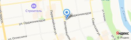 Незабудка на карте Сыктывкара