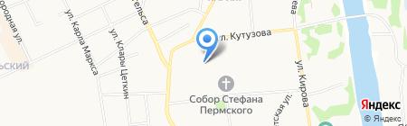 Фонд жилищного строительства г. Сыктывкара на карте Сыктывкара