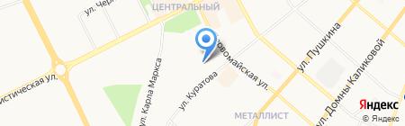 Гранит на карте Сыктывкара