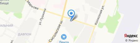 Профессиональная аварийно-спасательная служба Республики Коми на карте Сыктывкара