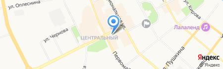 Двери Столицы на карте Сыктывкара