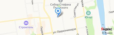 Эколайн на карте Сыктывкара