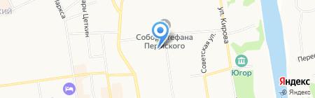 Полиграф-Сервис на карте Сыктывкара