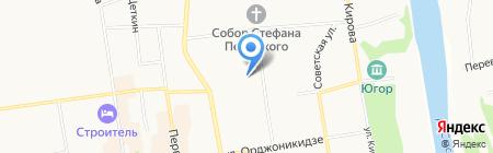 Орион на карте Сыктывкара