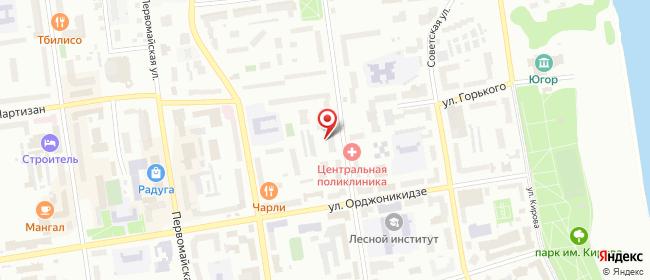 Карта расположения пункта доставки Билайн в городе Сыктывкар