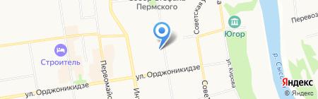 Швейное ателье на ул. Ленина на карте Сыктывкара