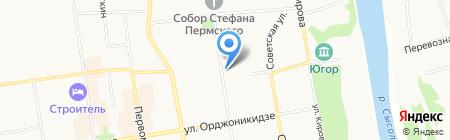 Мича на карте Сыктывкара