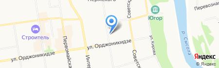 Магазин цветов на ул. Ленина на карте Сыктывкара