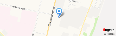 Алеф на карте Сыктывкара