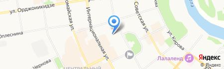 Облака на карте Сыктывкара