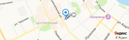 Синтез Коми на карте Сыктывкара