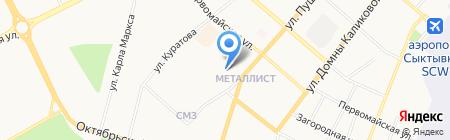Мастерская по ремонту обуви на ул. Куратова на карте Сыктывкара