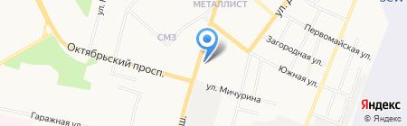 Акватория на карте Сыктывкара