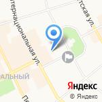 Конституционный суд Республики Коми на карте Сыктывкара