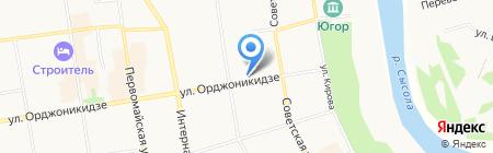 Чайка на карте Сыктывкара