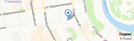 СыктГУ на карте Сыктывкара