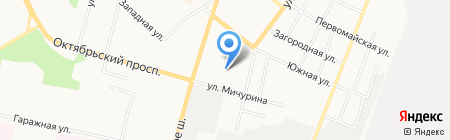 Креатон на карте Сыктывкара