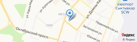 Атлант-сервис на карте Сыктывкара