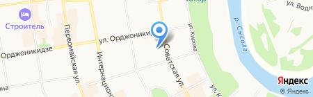 Афина на карте Сыктывкара