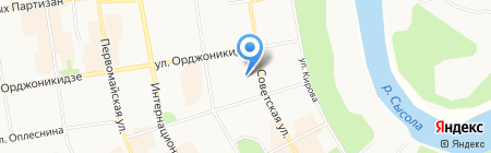 Аэлита на карте Сыктывкара