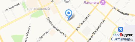 Эковата на карте Сыктывкара