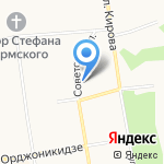 Эксист-М на карте Сыктывкара