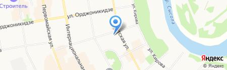 Букинист на карте Сыктывкара