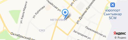 Сеть продуктовых магазинов на карте Сыктывкара